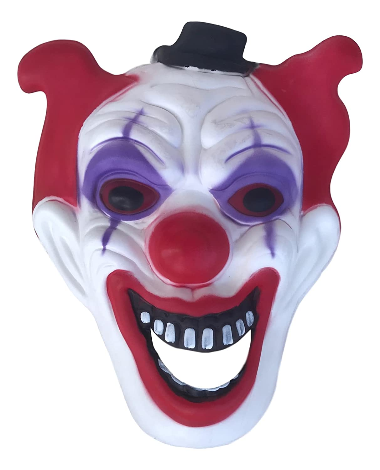 Jumbo Halloween Scary Crazy Clown Mask Red and Black