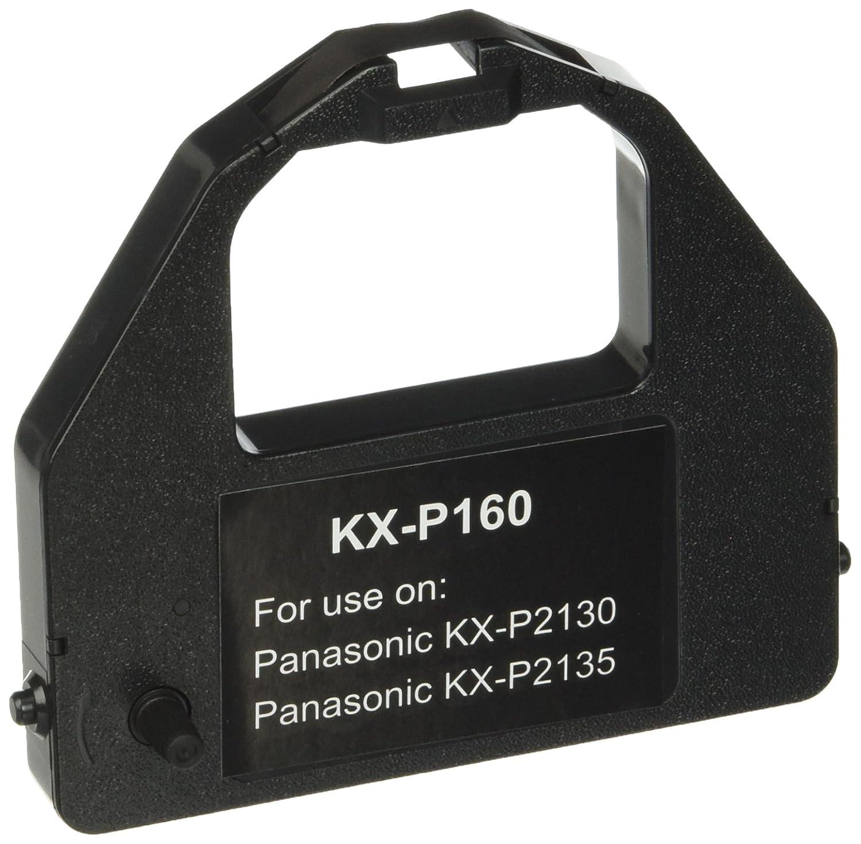 Black, 2-Pack LD Compatible Printer Ribbon Cartridge Replacement for Panasonic KX-P160