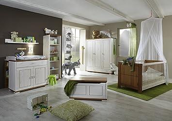 Babyzimmer Baby Zimmer Nils In Kiefer Voll Massiv Weiss Massivholz