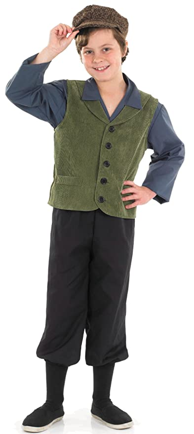 Steampunk Kids Costumes | Girl, Boy, Baby, Toddler Fun Shack Child Victorian Boy Costume - AGE 10 - 12 YRS (XL)  AT vintagedancer.com