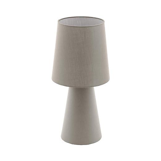 EGLO 97134 Lámpara de mesa E27, 12 W, Gris pardo: Amazon.es ...