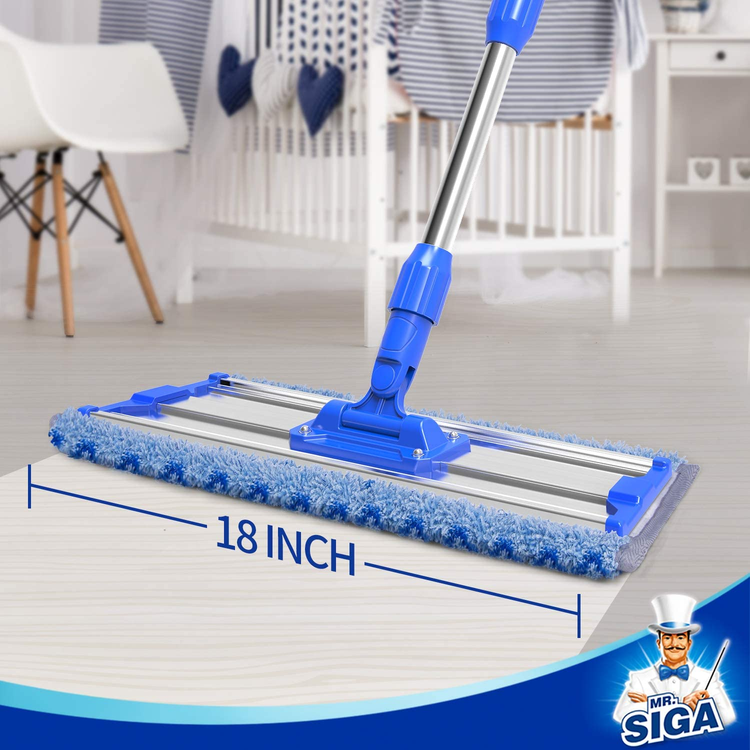 Professional Microfiber Mop with Adjustable Stainless Steel