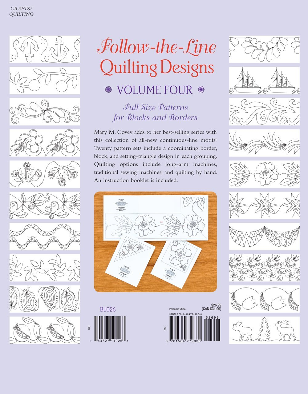 4: Follow-the-Line Quilting Designs Volume Four: Full-Size ... : quilting designs for borders - Adamdwight.com