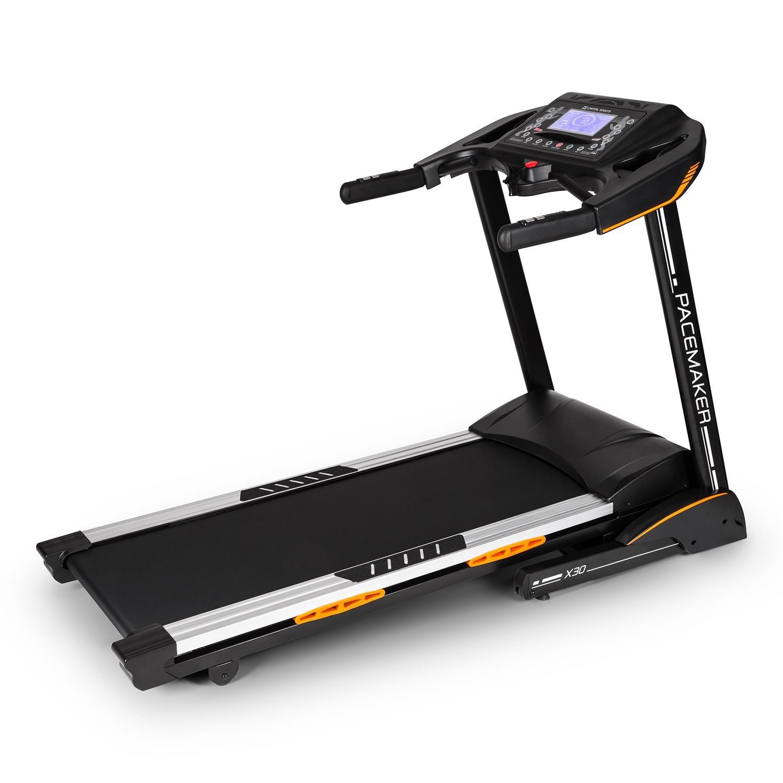Capital Sports Pacemaker X30 Treadmill • Tapis roulant • 22 km/h • LCD • 36 programmi • Misuratore impulsi • Ricevitore Radio • Inclinazione 0% - 20% • Altoparlanti integrati • Pieghevole • Nero product image