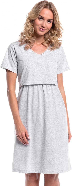Donna Set Vestaglia e Camicia da Notte pr/émaman LAllattamento 190p HAPPY MAMA
