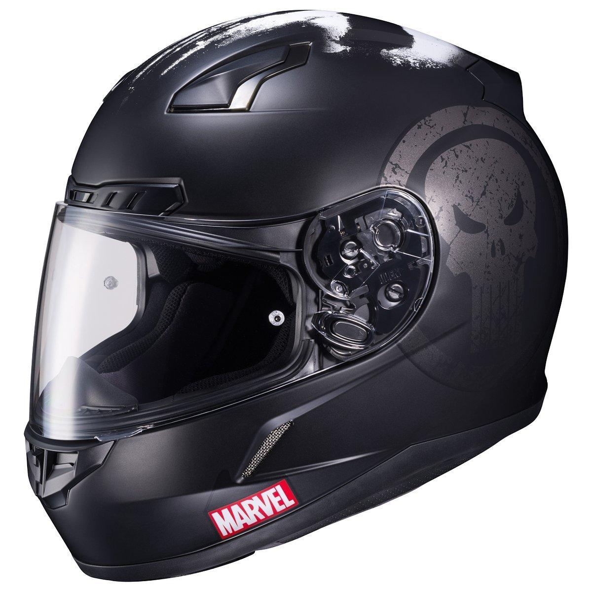 HJC CL-17 Motorcycle Helmet Marvel Series The Punisher Black X-Large