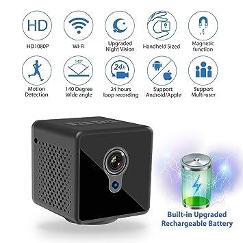 Amazon.com: Mini cámara espía WiFi, Relohas 1080P cámara ...