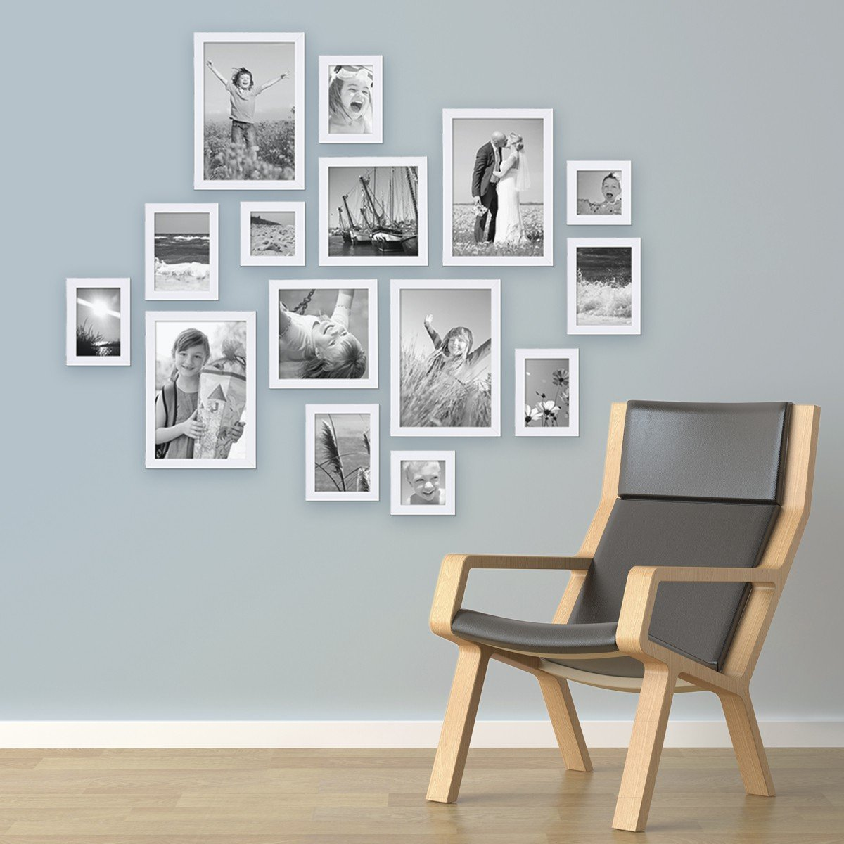 fotocollage wand fotocollage kerstkaart met houten wand with fotocollage wand awesome haus. Black Bedroom Furniture Sets. Home Design Ideas