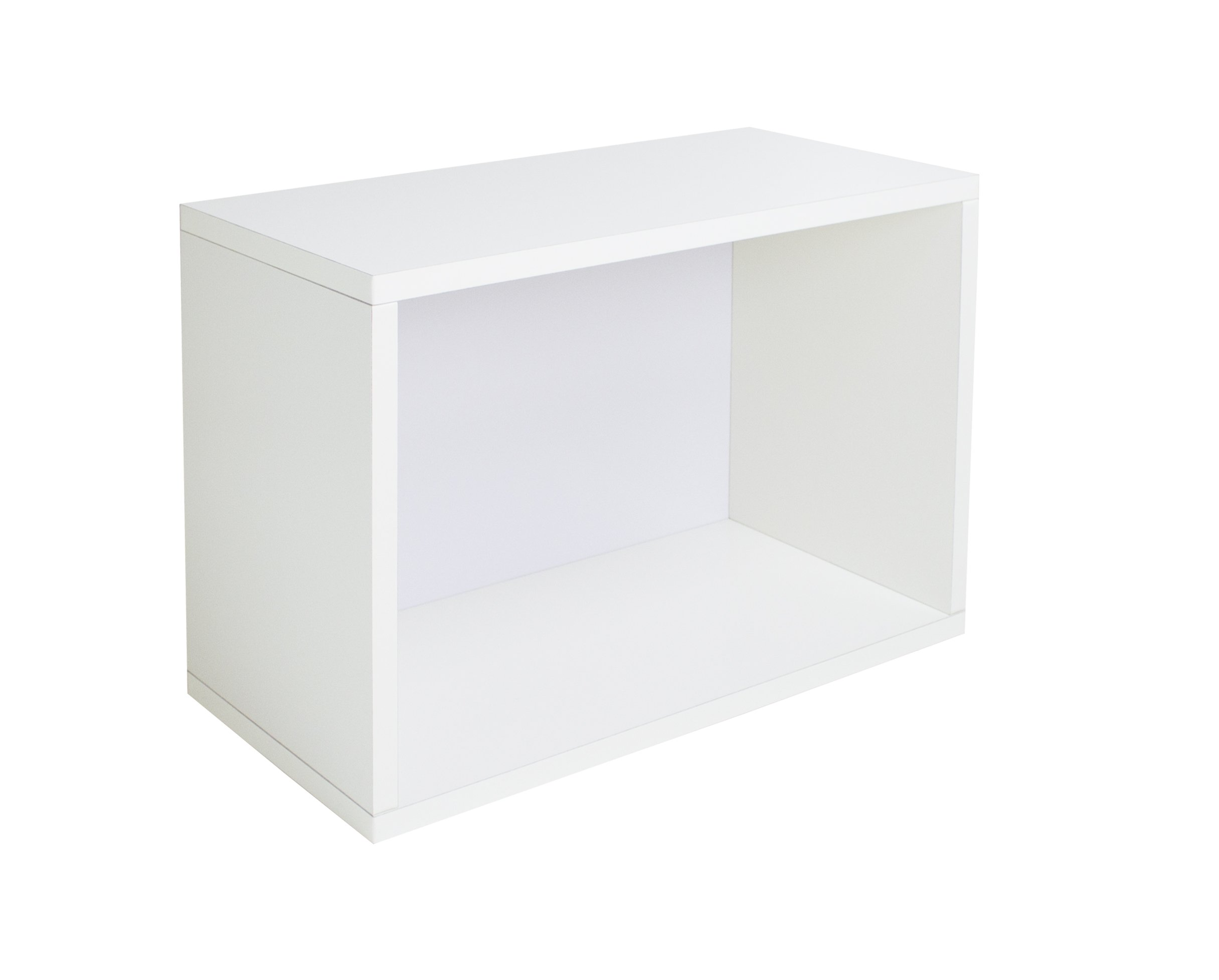 Way Basics Eco Stackable Shelf and Shoe Rack, White (made from sustainable non-toxic zBoard paperboard)