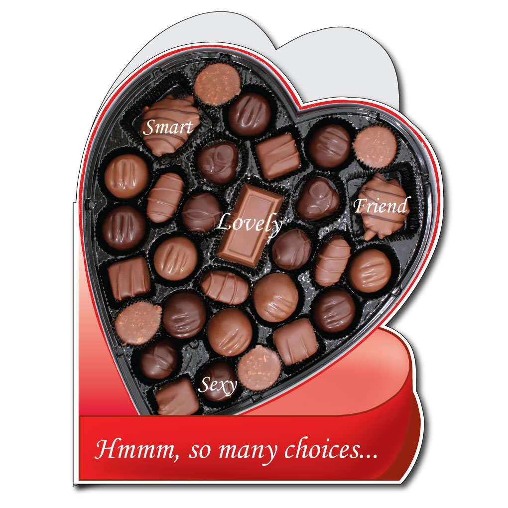 Amazon.com: 2' x 3' Box of Chocolates HUGE Valentine's Day Card w ...