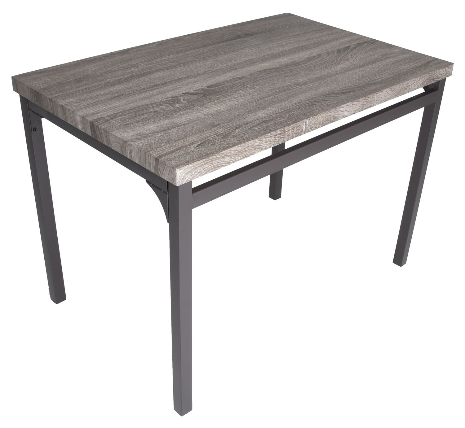 Zenvida 5 Piece Dining Set Rustic Grey Wooden Kitchen Table and 4 Chairs by Zenvida (Image #5)