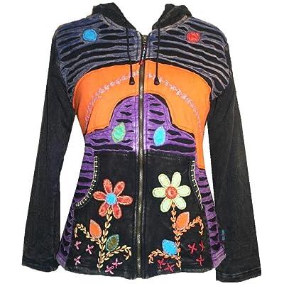 309 RJ Agan Traders Funky Cotton Bohemian Fleece Lined Jacket