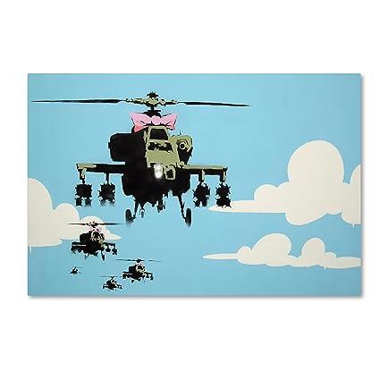 Amazon.com: Vapor Helicopter UAV Wall Decor by Banksy, 30\