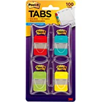 Post-it Easy Dispenser Durable Tabs 4 Assorted Colours 25.4mm x 38.1mm 686-RALY