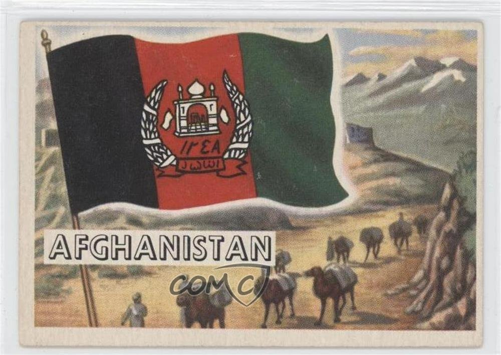 Afghanistan (Trading Card) 1956 Topps Flags of the World