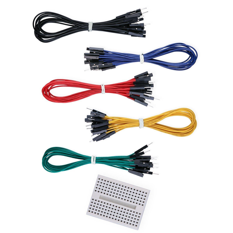 Amazon.com: Aketek 50 PCS Jumper Wires Premium 200mm M/F Male-to ...