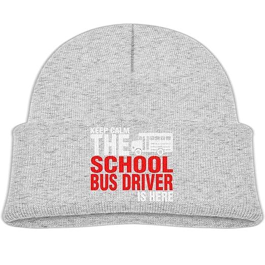 6dfee9317e3 Amazon.com  Beanie Caps School Bus Driver is Here Fleece Knit Hat ...