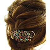 Colorful Retro bijoux strass cristal Peacock clip vintage de cheveux