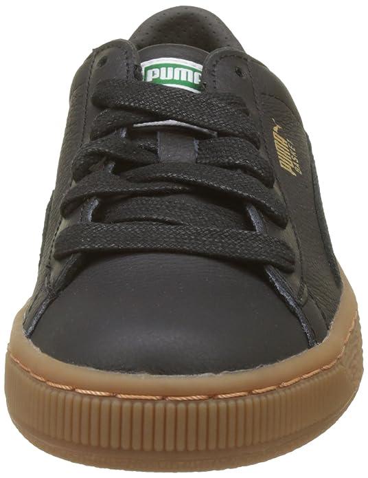Puma Unisex-Kinder Basket Classic Gum Deluxe Jr Sneaker, Schwarz Black Black, 35.5 EU