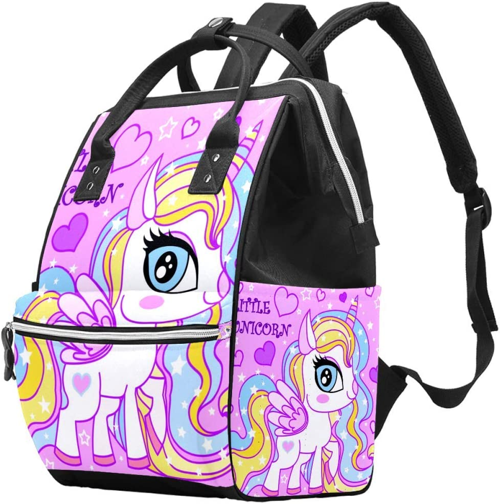 Laptop Backpack Waterproof Diaper Bag Nursing Bag Travel Nappy Tote Bags Multi-Function School Business Daypack Doctor Bag Beauty Little Unicorn