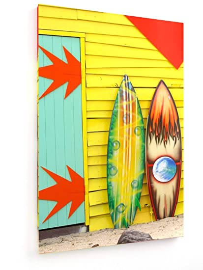 weewado Las Tablas de Surf - 50x75 cm - Impresión en Lienzo Textil - Muro de