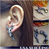 3D Dragon with wings Puncture Ear Stud Womens Mens Unisex Earring One Piece