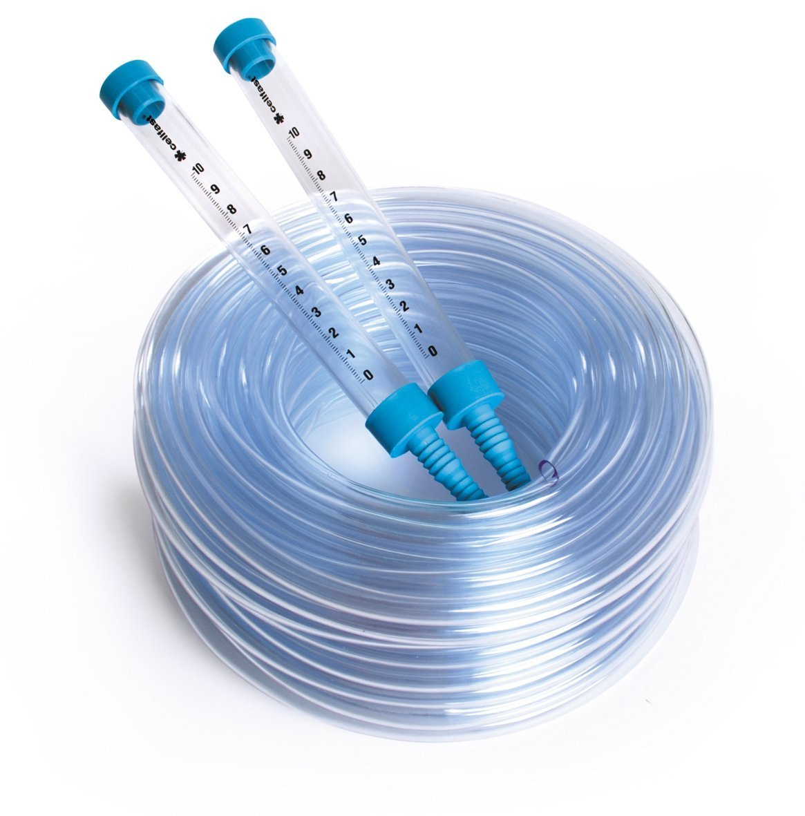 Quantum Garden QG-LH-BL-10 - Manguera con 2 tubos de agua (calibre de agua, 10 m), color transparente y azul