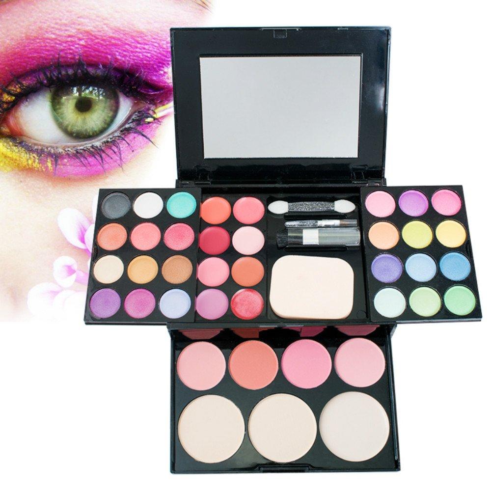 Vinmax Best Pro Eyeshadow Palette Makeup, Pro Warm Colors Matte Shimmer Eyeshadow Palette Makeup Kit Set + Brush Mirror M2 for Valentine's Day
