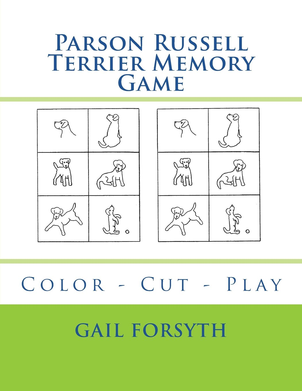 Parson Russell Terrier Memory Game: Color - Cut - Play PDF