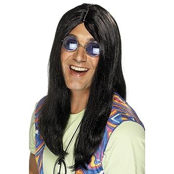 Negro 60er disfraz de hippie de la peluca de la peluca años Neil dude negro de