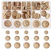 200Pcs Holz Runde Knopf//Knöpfe 4-Löcher Scrapbooking Dekoration Nähen 12mm