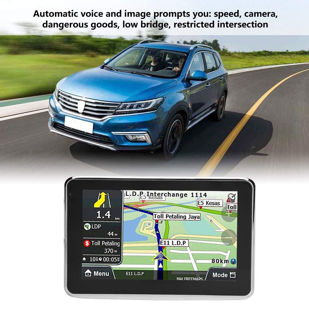 sistema touch screen universale per auto con mappa Europa 508 256 MB 8 GB MP3 FM Qiilu Navigatore GPS da 5 pollici