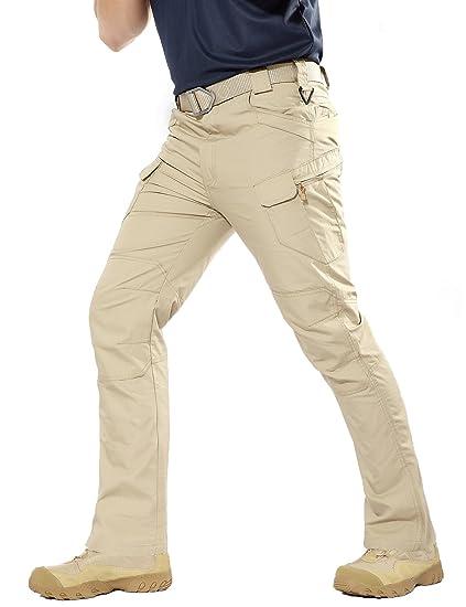 dernier images détaillées vaste sélection YFNT Hommes Pantalon Tactique Imperméable Pantalon Cargo Léger Ripstop  avec, Escalade, randonnée, Pantalon Tactique