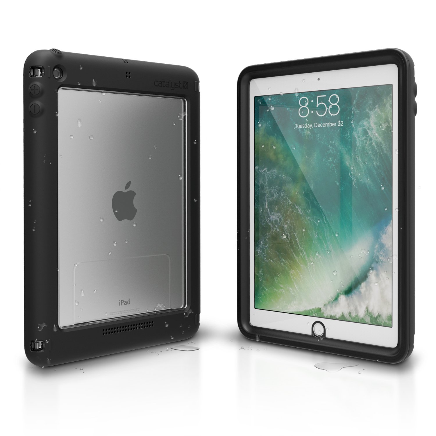 Catalyst iPad 2017 case [Smart Waterproof Shockproof] iPad 9.7 inch Protective Case [Compatible with New iPad 6th generation] Premium Quality Cover High Touch Sensitivity, Multi Position Stand (Black)