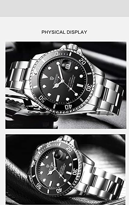 Amazon.com: Tevise Men Mechanical Automatic Role Date Submariner Clock: Watches