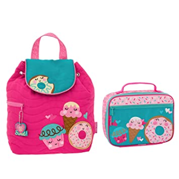 65e973a16d78 Stephen Joseph Girls Quilted Cupcake Backpack and Lunch Box for Kids