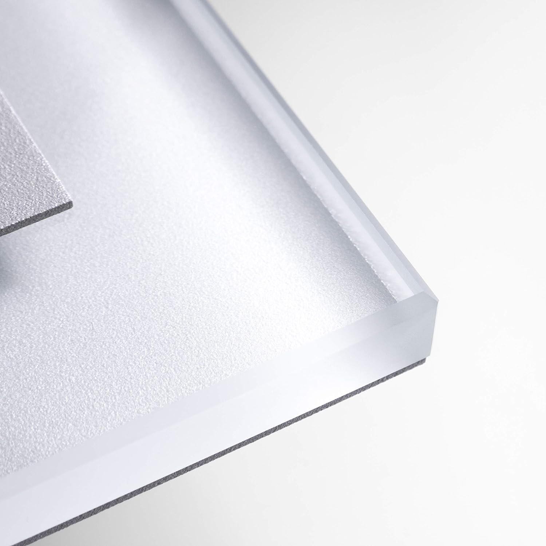 SET SET SET LED Treppenbeleuchtung Premium SunLED Large Warmweiß 230V 1W Echtes Glas Wandleuchten Treppenlicht mit Unterputzdose Treppen-Stufen-Beleuchtung Wandeinbauleuchte (Alu  Weiß, 7er Set) bc5e8b
