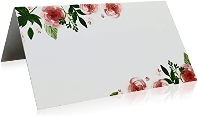 Jot & Mark Place Cards Floral 50 Count (Pink Peonies)