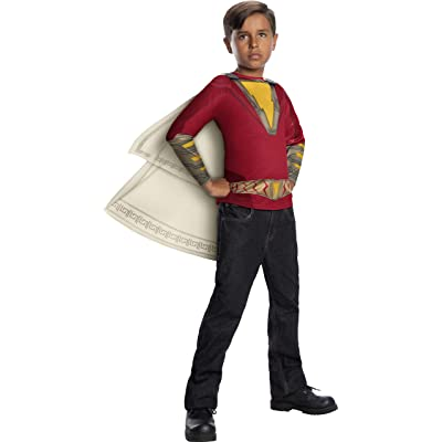 Rubie's Shazam! Movie Child's Costume Top & Hooded Cape, Small: Toys & Games