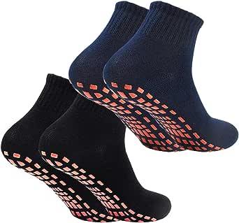 NATUCE Calcetines Deporte 2 Pares Calcetines Antideslizantes para Hombre Mujer Algodón Transpirable Calcetines Deportivos para Pilates Yoga Fitness Gimnasia: Amazon.es: Ropa y accesorios