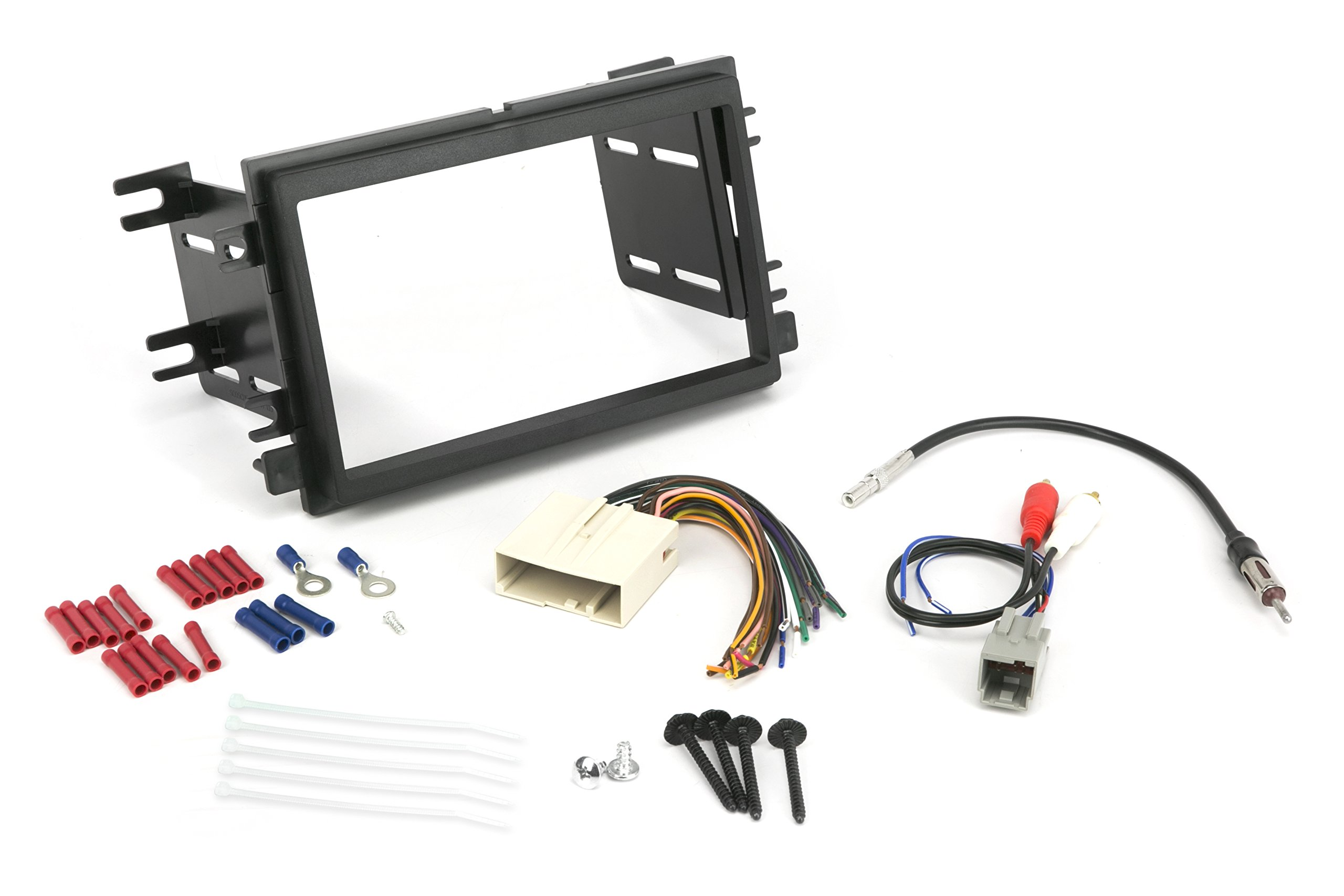 Install Centric ICFD6BN Ford/Lincoln/Mercury 2004-08 Double DIN, Premium Sound Complete Installation Solution for Car Stereos by Scosche