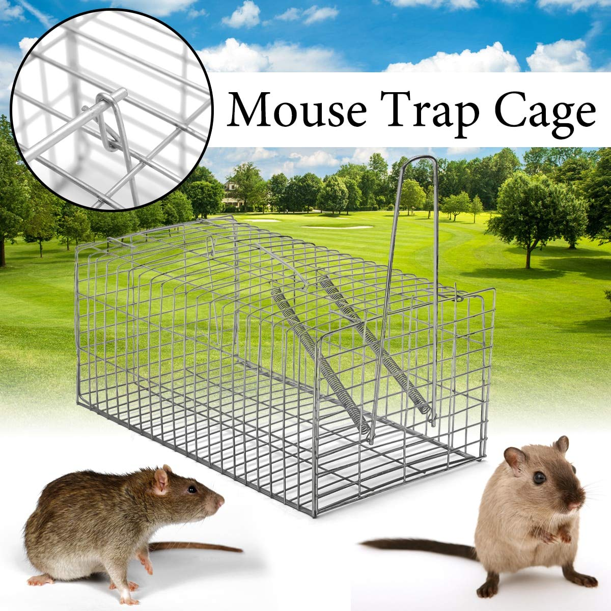 Home Humane Rat Trap Mouse Pest Animal Trap Mice Rodent Repeller Catch Bait Hamster Mouse Trap Cage Pest Control