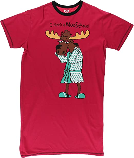 Lazy One Womens Need a Moose-age Nightshirt