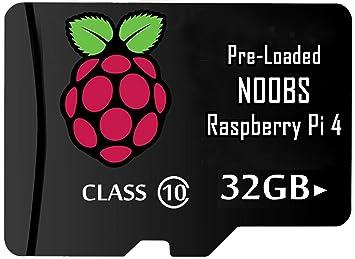 LoveRPi 32 GB Raspbian UHS-I Tarjeta microSD con Adaptador ...