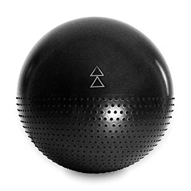 YOGA DESIGN LAB | The Stability Ball | Yoga Gym Ball | Inflatable, Therapeutic, Extra Strong | Barre, Pilates, Resistance, Core, Abdominal, Home Fitness Exercises | 65cm