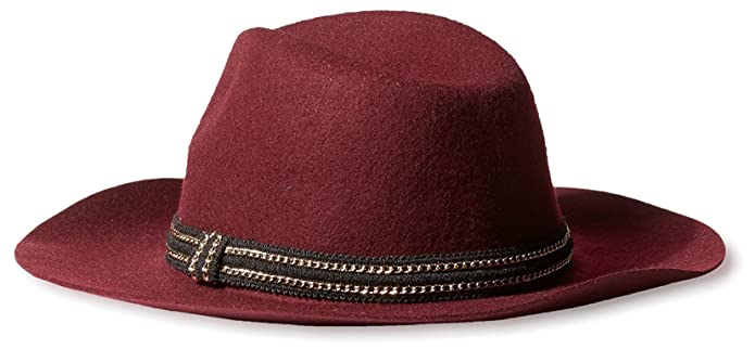 69ecf564871 Amazon.com  Evelyn K Women s Wool Fedora Hat in Burgundy  Shoes
