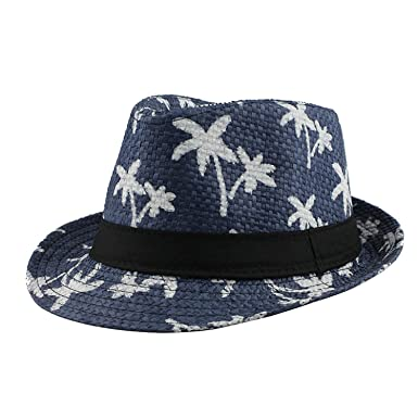 0dcdd8b452d HCIUUI Casual Panama Sun Hats Straw Men Beach Summer Fashion Hats for Women  caps Trilby Cap