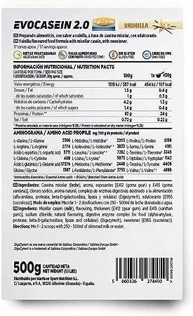 Caseína Micelar de HSN Evocasein 2.0   Proteína para Antes de Dormir, Liberación Lenta de Aminoácidos durante la Noche   Vegetariana, Sin Gluten, ...