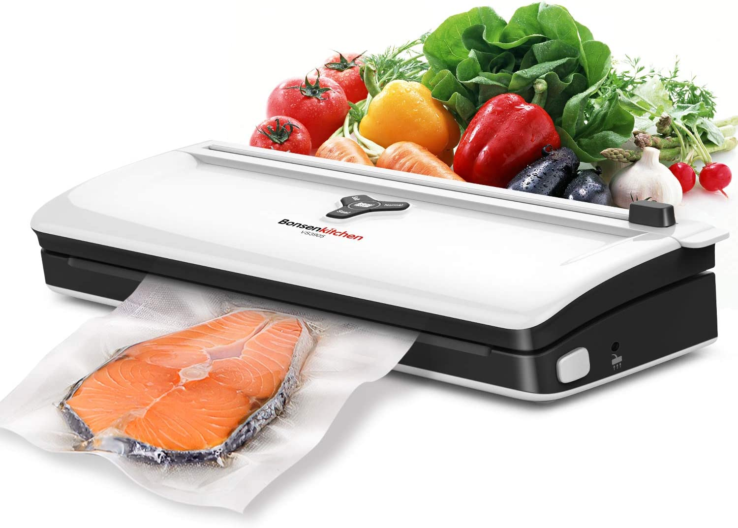 Food Saver Vacuum Sealer Machine For Food, Vaccume Sealer Machine Built in Air Sealing System with Vacuum Sealer Kits, Avoid Dehydration n Freezer Burn, Dry/Moist Model For Sous Vide