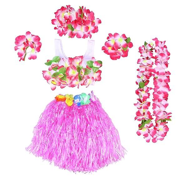 Blumen Girlande Hawaii Kostüm Hochzeit Party Kostüme Lei 100 cm 2018 Neu